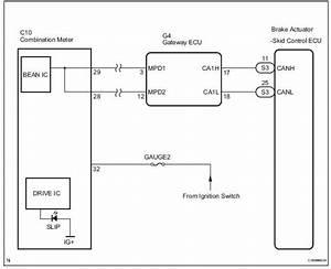 Toyota Sienna Service Manual  Slip Indicator Light Remains