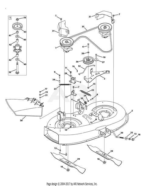 Garden Tractor Wiring Diagram Mtd 13ag601h729 by Mtd 13am761f065 2009 Parts Diagram For Mower Deck 38 Inch