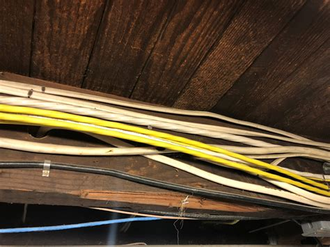 Electrical Romex Cable Tidying Basement Home