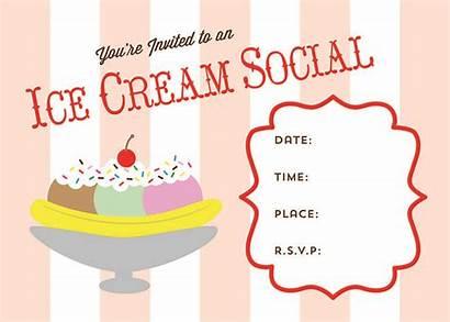 Ice Cream Social Party Printable Invite Summer