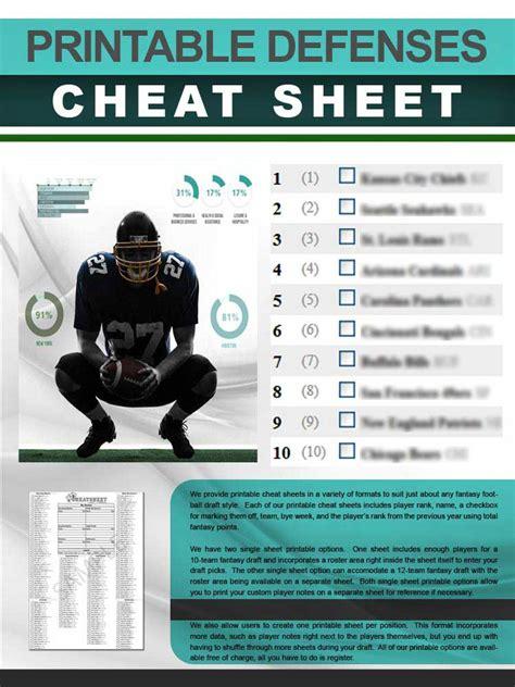 defenses cheat sheet  printable format