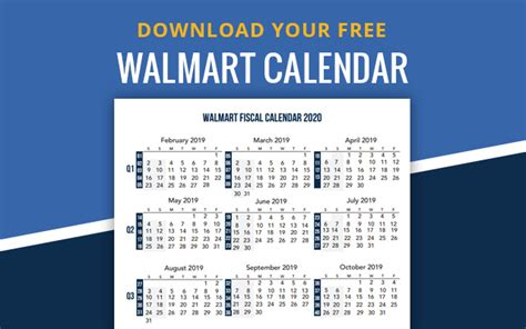 walmart fiscal year calendar