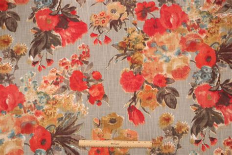 foto de HGTV Home Garden Odyssey Printed Cotton Drapery Fabric in Fog