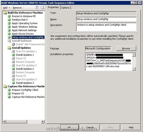 osd task sequence failes to resume for windows 2008 r2