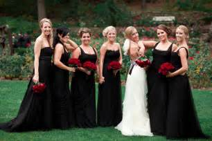 black dresses for bridesmaids black bridesmaid dresses dressed up