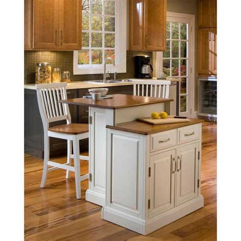 white kitchen island with seating home styles woodbridge white kitchen island with seating 5010 948 the home depot