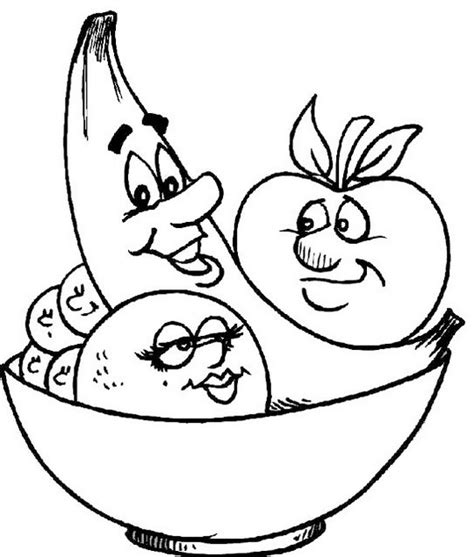 fruits  faces coloring food  face coloring picture