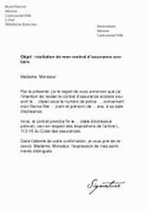 Remboursement Assurance Emprunteur Lettre Type : mod les de lettres de r siliation pour r silier un contrat ~ Gottalentnigeria.com Avis de Voitures