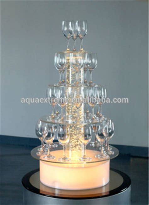 acrylic water bubble light champagne display stand wedding