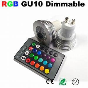 Spot lamp led GU10 dimmable blub light RGB color ampoule