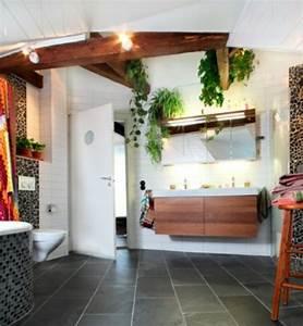48 idees deco salle de bain avec plantes et fleurs de design With salle de bain design avec fleurs synthétique décoration