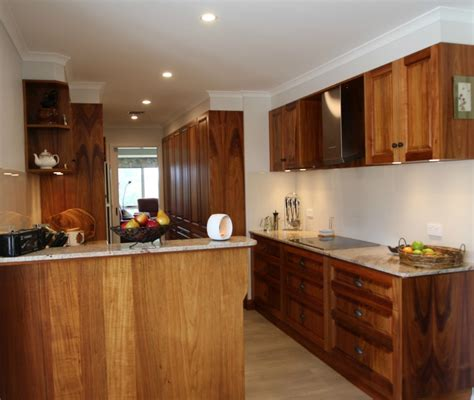 Timber Cupboards by Traditional Blackwood Kitchen With Walk In Pantry And