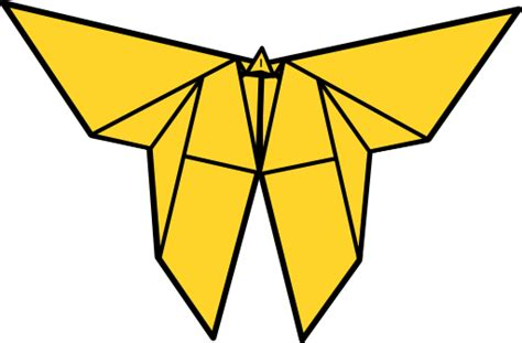 Origami Butterfly Clipart