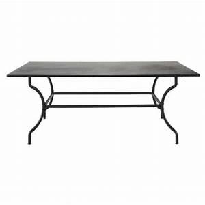 Table Fer Forgé Jardin : table de jardin en fer forge marron l 200 cm ~ Teatrodelosmanantiales.com Idées de Décoration