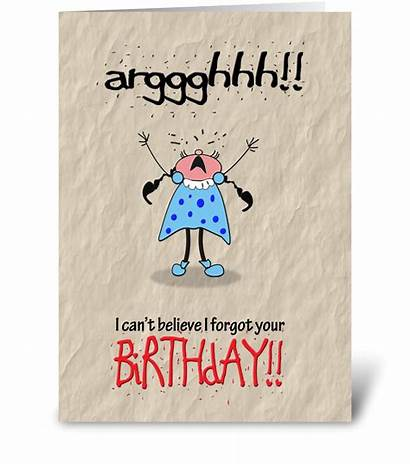 Birthday Humor Belated Greeting Cards Card Send
