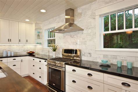 traditional backsplashes for kitchens backsplash for black granite kitchen traditional with black granite carrara marble