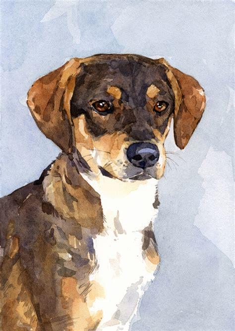 5x7 Custom Dog Watercolor Portrait   david scheirer ...