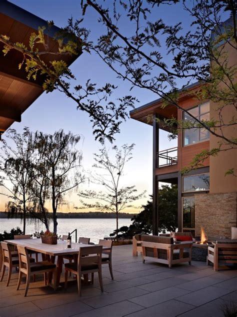 lake house  patio modern patio seattle