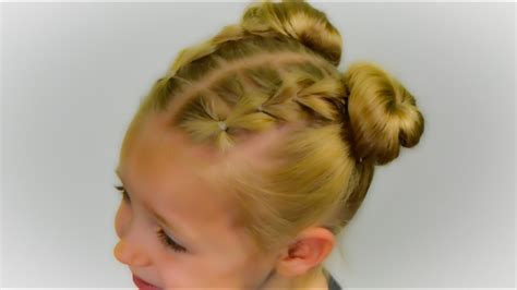 trend   pull  braids  space buns easy