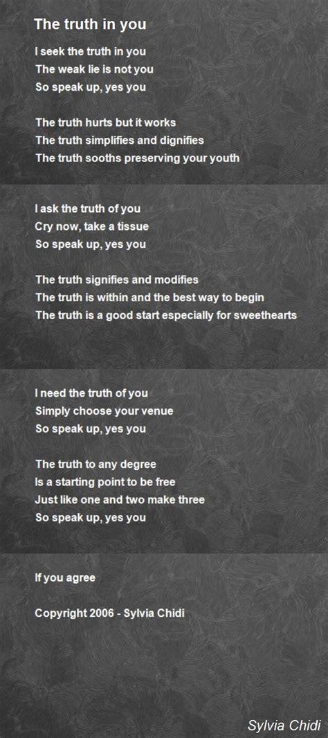 truth   poem  lovina sylvia chidi poem hunter