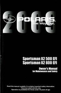2009 Polaris Sportsman X2 500 800 Efi Atv Owners Manual