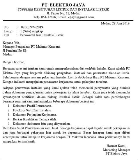 Permintaan Jasa by 10 Contoh Surat Penawaran Harga Barang Jasa