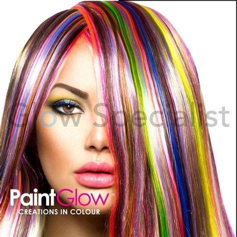 hair color streaks paintglow uv hair color streaks glow specialist glow