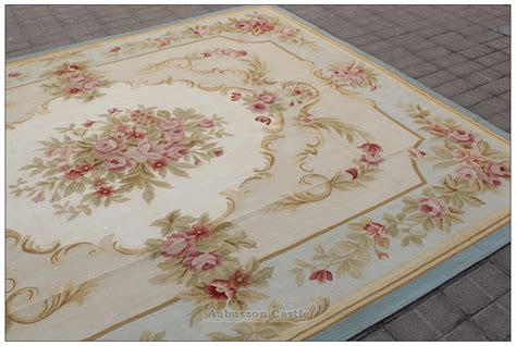 pink area rug 8x10 blue ivory w pink aubusson area rug free ship wool