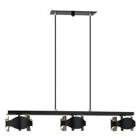 home depot hanging ls eglo catwalk 3 light chrome and black hanging island light