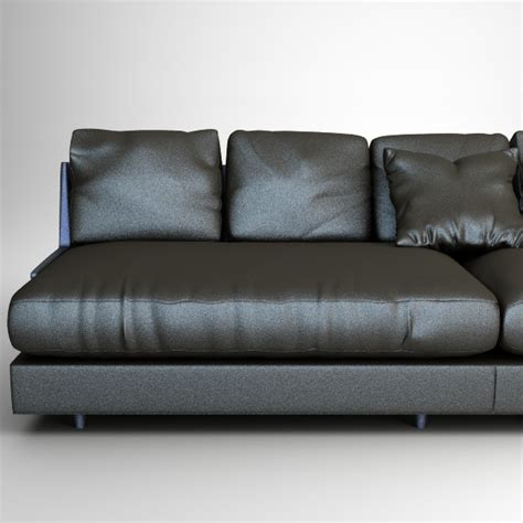 Contemporary Black Leather Sofa by Contemporary Black Leather Sofa 3d Model Max Obj 3ds