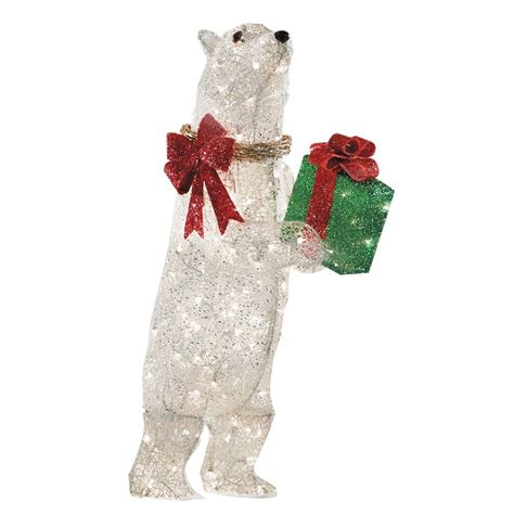 holiday specs   lighted mesh polar bear outdoor