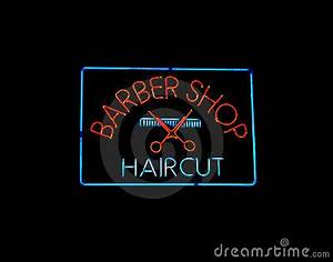 Neon BARBER SHOP Sign Royalty Free Stock Image