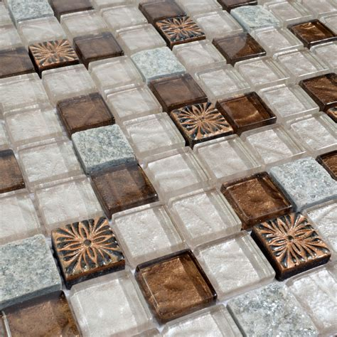 kitchen backsplash tile stickers glass mosaic tile glass with marble