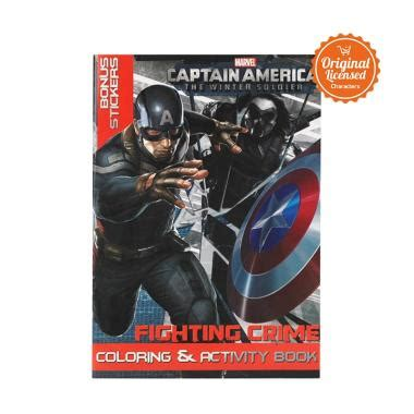 jual marvel captain america fighting crime coloring book