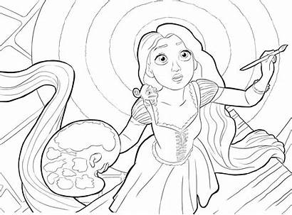 Coloring Rapunzel Paint Painting Tangled Printable Voldemort