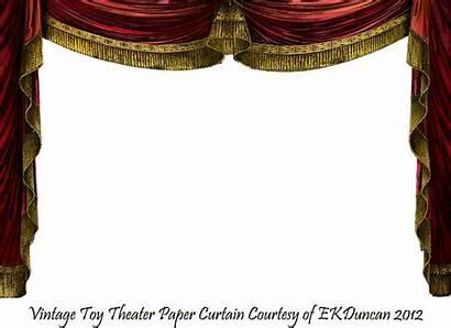Curtain Stage Ekduncan Clipart Marie Theatre Frame