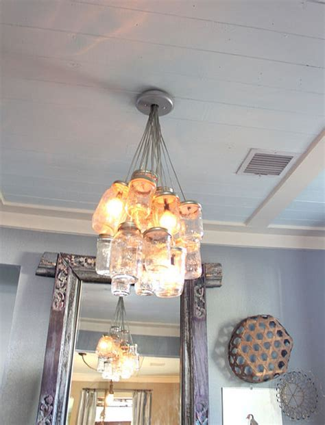 how to make a chandelier using jars