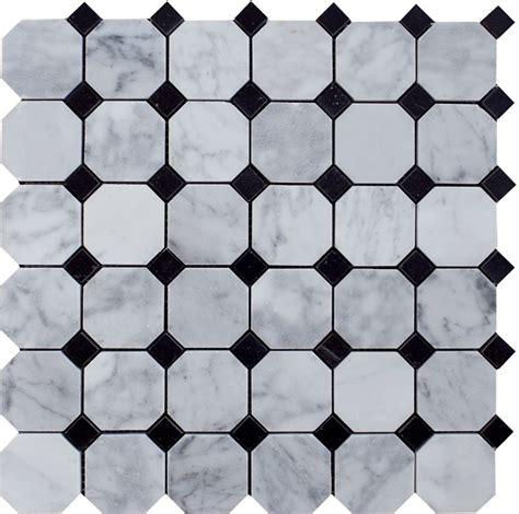 carrara marble mosaic tile bianco carrara white marble 2 quot octagon polished mosaic tile