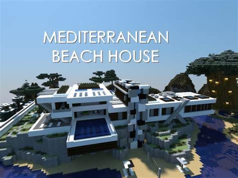 mediterranean beach house minecraft building