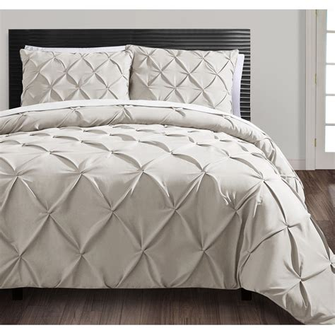 Duvet Set by Beautiful Modern Contemporary Ruffled Beige Ruched