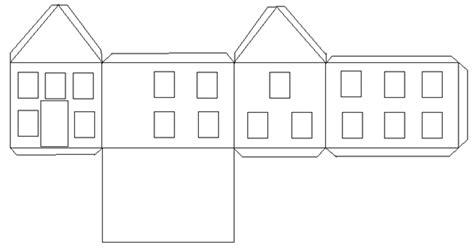 Vorlage Haus Basteln Schnittmuster