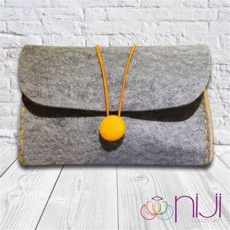 clutch cosmetic felt bag cosmetic bag handmade felt pouch iphone