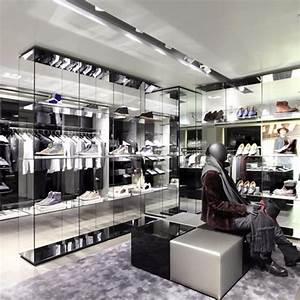 Customized Retail Luxury Glass Clothing Store Showcase For ...