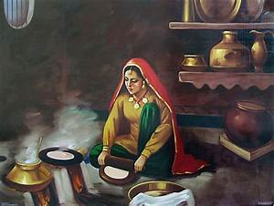 Old Punjabi kitchen : Punjabi Lady Making Roti | Desi Life ...