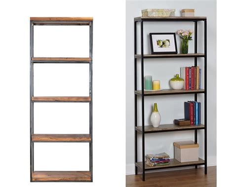Ikea Wood Bookcase by Ikea Hack Wood And Metal Bookshelf Real Happy Space