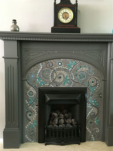 mosaic tile fireplace the 25 best ideas about mosaic fireplace on
