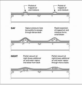 Formation Of Roof Membrane Blisters