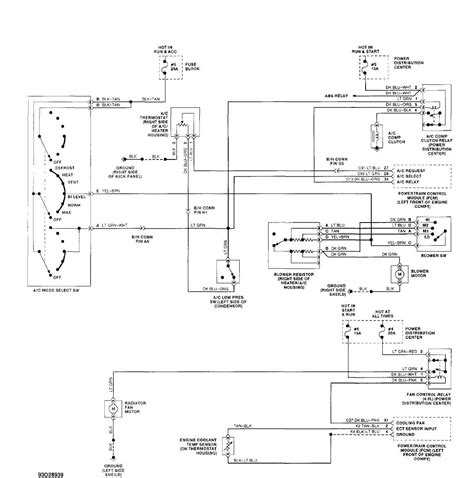 1999 Jeep Wiring Diagram Pdf by A C Heater System Manual 1993 Jeep Xj