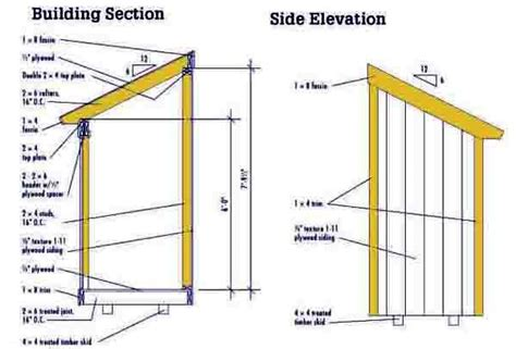 4 215 6 lean to shed plans blueprints for making a small shed