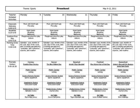 may preschool themes themes units preschool lesson plans theme sports 236